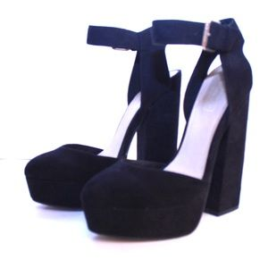 Topshop Shoes - Topshop High Profile Ankle Strap Platform Heels